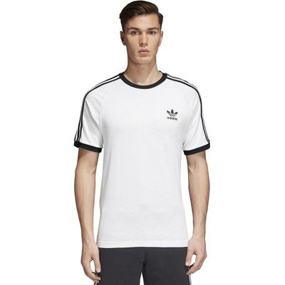 213f1591fa8 Camiseta con cuello redondo y manga corta, con estampado delante adidas  Originals