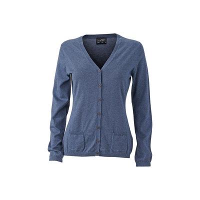 fb99d6f6001d9b Gilet femme bleu marine coton | La Redoute