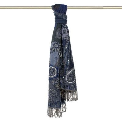 Foulard Laine MUMBAÏ 1 Bleu marine Foulard Laine MUMBAÏ 1 Bleu marine MADURA 571b1b49df1