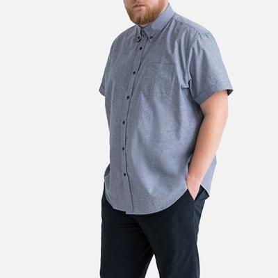 be43fe4c67e Short-Sleeved Oxford Cotton Shirt Short-Sleeved Oxford Cotton Shirt  CASTALUNA MEN S BIG