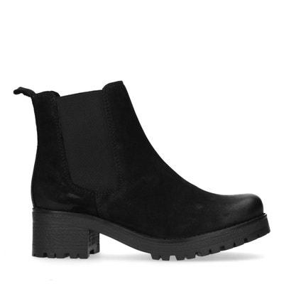 99931a0e547b57 Chelsea boots en cuir avec talon cubain SACHA