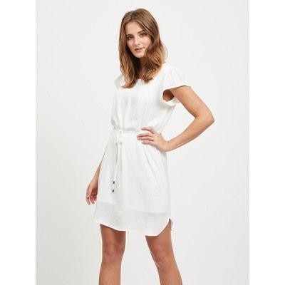 f8b5b5dba100 Robe blanche en dentelle femme