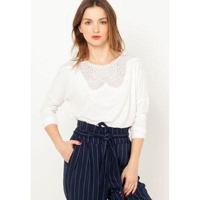 8c896508835 Tee shirt blanc manche longue femme