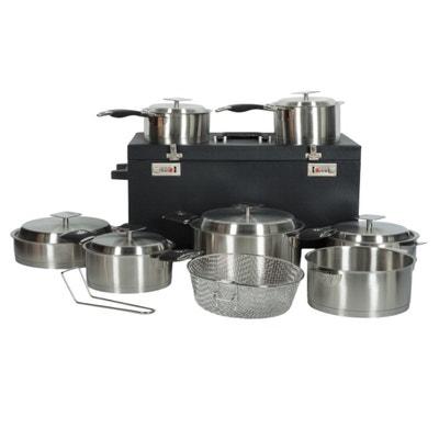 7bb9ba3c900c6 Batterie de cuisine 15 pièces + poignées amovibles avec valise trolley  Artmétal ARTMETAL