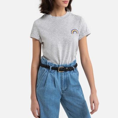 T-shirt met ronde hals in bio katoen T-shirt met ronde hals in bio katoen ESPRIT