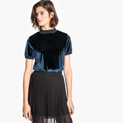 503a82d41481 Tee-shirt manches courtes en velours Tee-shirt manches courtes en velours  LA REDOUTE