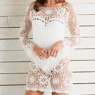 Robe Crochet Blanche Blanche Redoute Robe La La Crochet Redoute 6g61S