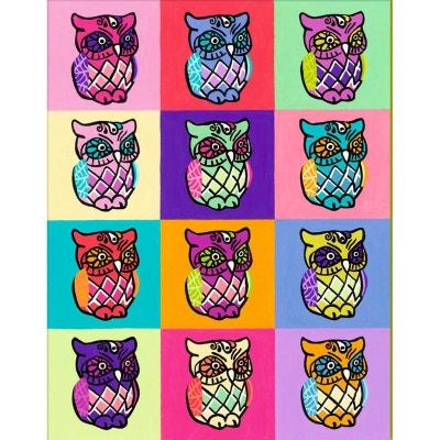 ba4beb6dbede95 Peinture au numéro   Numéro d Art Grand Format Classique   Chouettes Pop  Art RAVENSBURGER