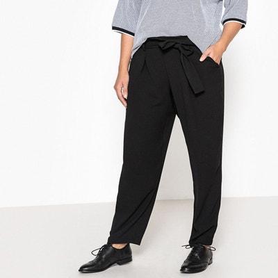 Pantalon droit style paper bag, avec ceinture CASTALUNA 8487571a27d