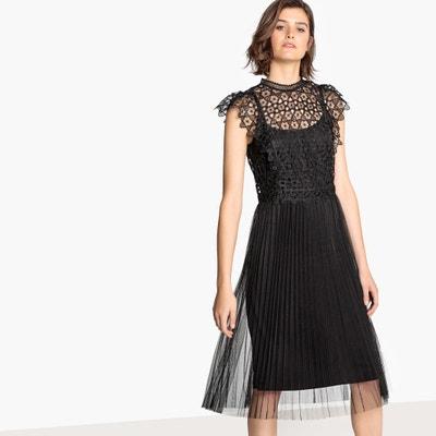 Vestido negro playero largo