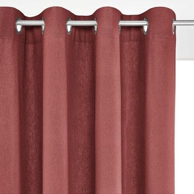 rideau lin rouge la redoute. Black Bedroom Furniture Sets. Home Design Ideas