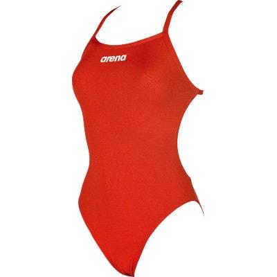 16cdb92f22 Solid Light Tech High - Maillot de bain Femme - rouge ARENA