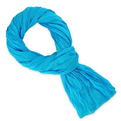 Chèche coton bleu turquoise uni ALLEE DU FOULARD 1ddf8374f83