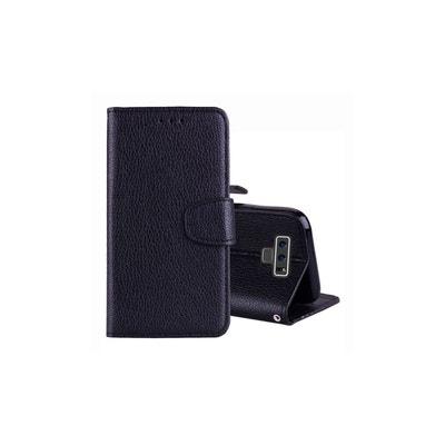 Housse Pour Galaxy Note 9 Portefeuille Grainé AMAHOUSSE c694deb1512