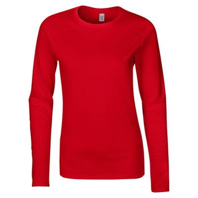 ffb8f6cb4d1ec Tee shirt manche longue rouge | La Redoute