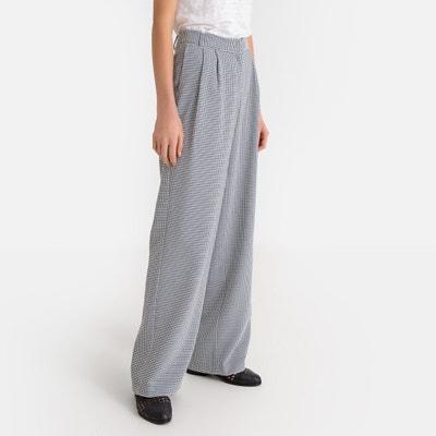 Pantalón ancho con estampado vichy Pantalón ancho con estampado vichy LA  REDOUTE COLLECTIONS c44f94aade61