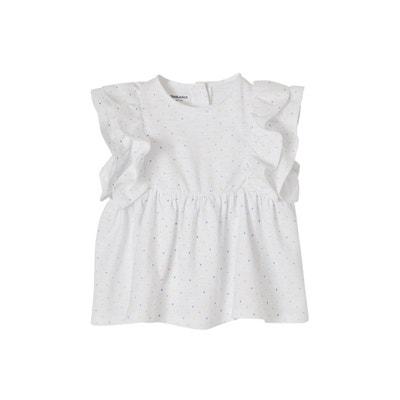 3c1215f2400fc Ensemble bébé fille T-shirt volanté + legging + bandeau assorti VERTBAUDET