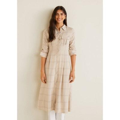 ffac577746f Robe chemise à carreaux MANGO