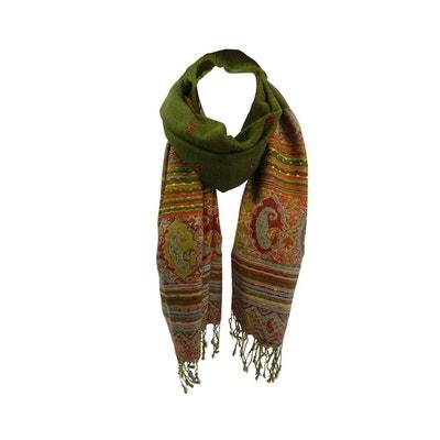 9d5a7a460d1e Echarpe XL Choden motifs Cachemire TOUTACOO