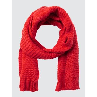 Écharpe rouge femme en solde   La Redoute 6a11ae47fa7