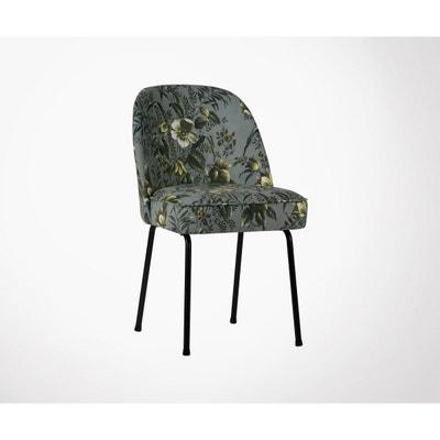 fea0cb8e688d9 Chaise design crapaud velours fleuri VOGUE (lot 2) Chaise design crapaud  velours fleuri VOGUE