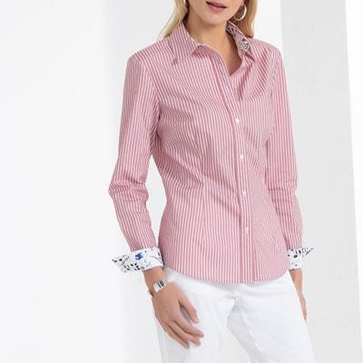 36f9349d31d Рубашка в полоску из ткани поплин стрейч Рубашка в полоску из ткани поплин  стрейч ANNE WEYBURN