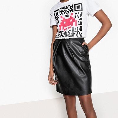 1b1f08e02 Jupe en cuir noir femme | La Redoute