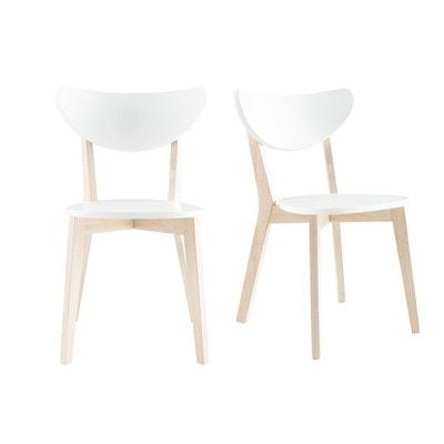 Chaises Design Pieds Bois Lot De 2 LEENA MILIBOO