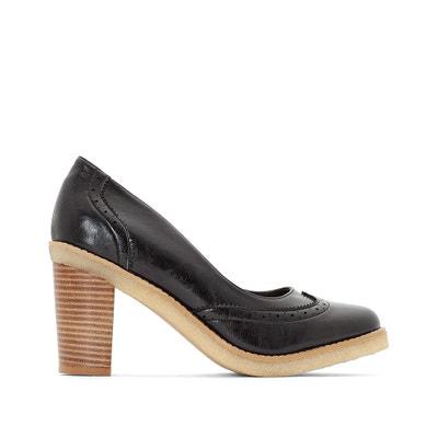 Zapatos de tacón de piel con plataforma 22aab07b7911
