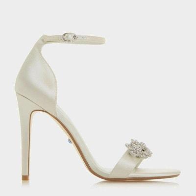 e5ee00ea538202 Chaussures à talon aiguille et bride de cheville fleur en strass - MARRY ME DUNE  LONDON
