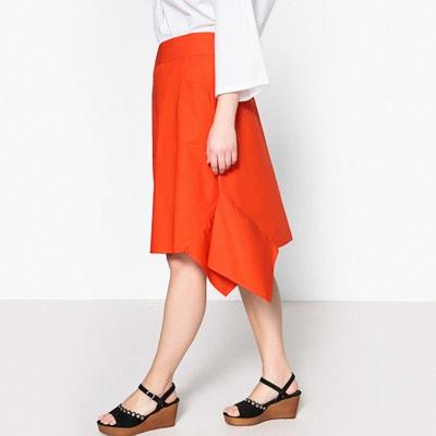 594fa5e7739 Flared Midi Skirt with Side Panel and Tie CASTALUNA PLUS SIZE