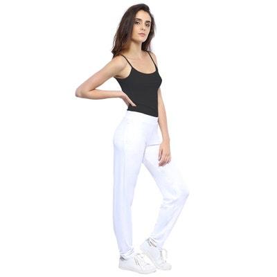 20595c4614c8 Pantalon coupe fluide taille élastique avec poches en maille modal AURELIE Pantalon  coupe fluide taille élastique