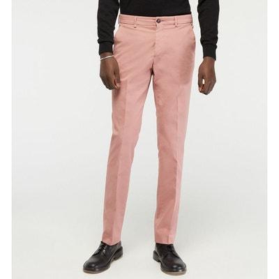 pantalon homme rose pale