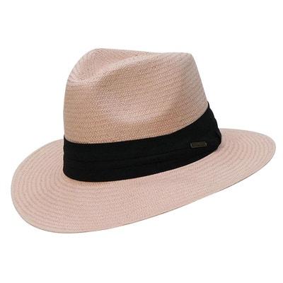 07cb553c6050e Chapeau rose style panama ruban noir Chapeau rose style panama ruban noir  CHAPEAU-TENDANCE