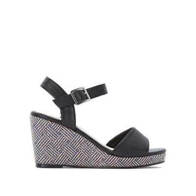 fa88ee3ef Sandálias compensadas, especial pés largos, do 38 ao 45 Sandálias  compensadas, especial pés