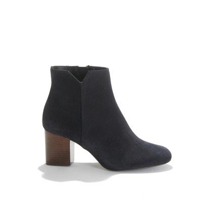 Boots met hak, fluweel leer  Virgin Cuir Velours Boots met hak, fluweel leer  Virgin Cuir Velours ANAKI