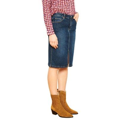 324504febc81 Jupe en jean avec découpe Jupe en jean avec découpe MKT STUDIO