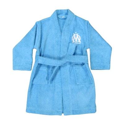 1fe1e48598b03 peignoir enfant OM col kimono 100% coton OLYMPIQUE MARSEILLAIS