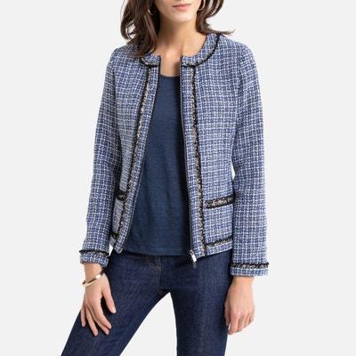 Blazer Jeans Veste Blazer Costumes Coton Noir-Cyclam taille 44