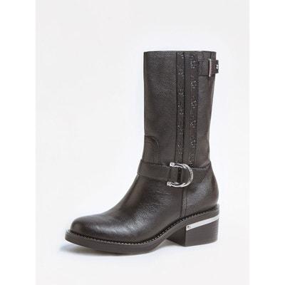 chaussures de course boutique pour officiel site autorisé Bottes cuir femme mollet fin   La Redoute