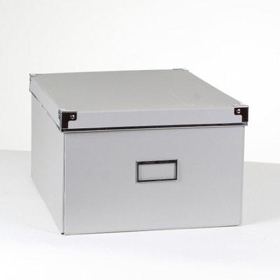 Boîte carton grise finition métal - petit modèle CASAME 1ad330a9abc2