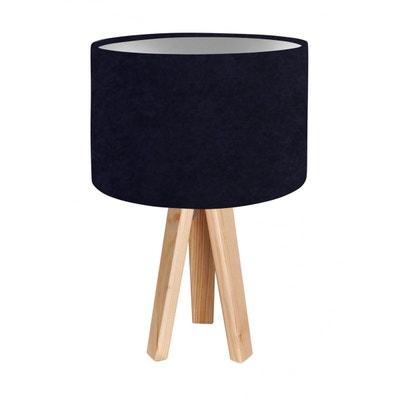 lampe de chevet noir et argent la redoute. Black Bedroom Furniture Sets. Home Design Ideas