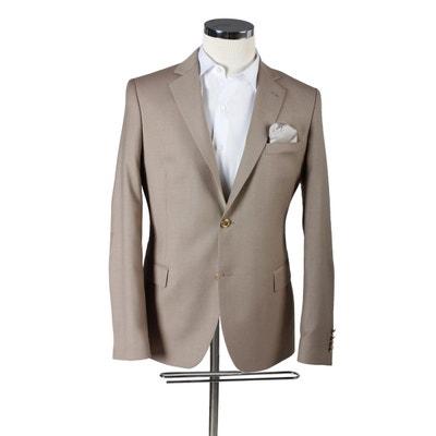 Blazer Homme Genio modern fit laine viscose beige Blazer Homme Genio modern  fit laine viscose beige d280e57a357
