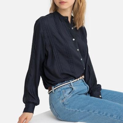 9521e6fee66 Блузка с круглым вырезом и длинными рукавами Блузка с круглым вырезом и длинными  рукавами LA REDOUTE