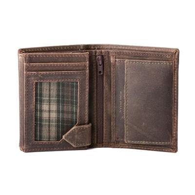 8e7ab243ca Petit portefeuille pour homme vertical en cuir vintage avec porte-monnaie Petit  portefeuille pour homme