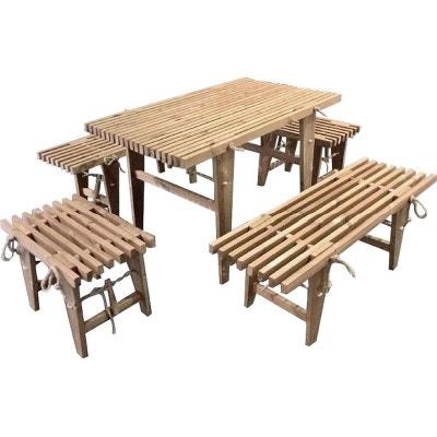 Banc et table en bois | La Redoute