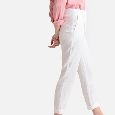3dc6be7a4f7 Pantalon droit pur lin Pantalon droit pur lin LA REDOUTE COLLECTIONS