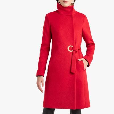 Manteau rouge femme a capuche