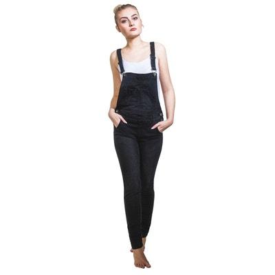 nouvelles variétés sélectionner pour plus récent bas prix Salopette jean noir femme | La Redoute