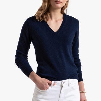 Pull en laine bleu marine femme | La Redoute